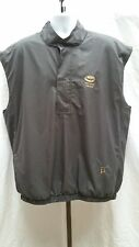 Pre-owned Dryjoys by Footjoy Black/Gray Snap Button Pullover Vest Size M  S118