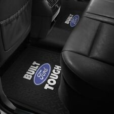 2 Rear Floor Mats FORD LOGO F150 F250 F350 Rubber Liner Black All Weather Slush