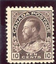 Canada 1912 KGV 10c brownish purple MLH. SG 210. Sc 116.