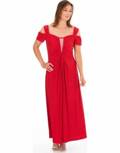 Embellished Glitter Maxi Dress - Ladies Womens - Klass Collection