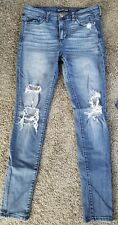Abercrombie & Fitch Women's Distressed Jeans Super Skinny High Rise Size 28/30