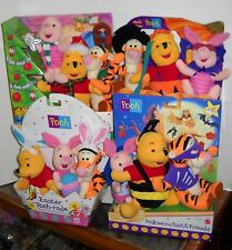 #4203 Fisher Price Target Pooh & Friends Christmas, Easter & Halloween Plush Set