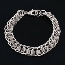 18k white gold filled GF classic woman man bracelet BL-A198