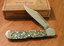 CASE XX New Genuine Abalone Handle Single Blade Copperlock Knife/Knives