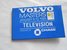 Cool Vintage 1985 Volvo Masters Tennis Tournament Television Pass Chase Pinback