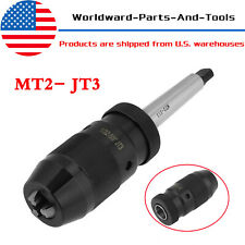 1-16mm Self Tighten Keyless Lathe Drill Chuck & MT2- JT3 Taper Arbor Live Center
