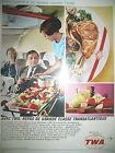 PUBLICITE DE PRESSE TWA COMPAGNIE AERIENNE VOYAGES JET STAR STREAM AD 1966