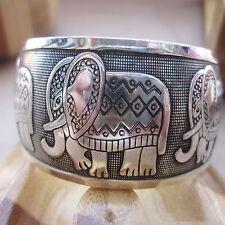 Antique Tibetan Silver Totem Bangle Cuff Bracelet Gift For Women 1 PCS