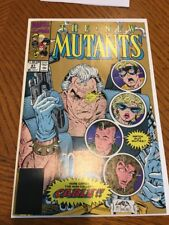 New Mutants 87  (GOLD 2ND PRINT VARIANT)  1ST CABLE!  HIGH GRADE COPY!!