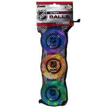 Franklin Sports NHL Extreme Color Street Hockey Balls - 3 Pack