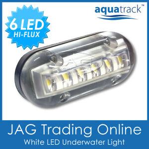 "12V WHITE 6-LED 3W Underwater Boat Transom Light 3.5"" - Fishing Squid Trailer"