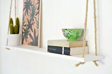 MENSOLA da parete da appendere in legno con corda 39x6 in Legno Mensole Centrotavola Wall Decor