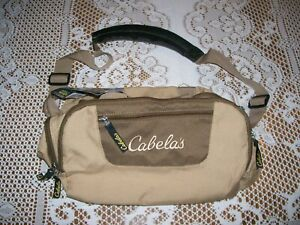 Cabelas Catch All Gear Bag Weather Resistant Tan Polyester 6 Pocket Hunting Fish