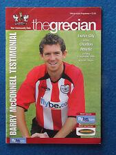Exeter City v Charlton Athletic -11/10/05- Barry McConnell Testimonial Programme