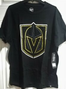 Las Vegas NHL Hockey Golden Knights t-shirt '47 Brand New nwt black gold