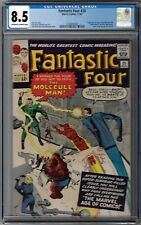 CGC 8.5 FANTASTIC FOUR #20 1ST APPEARANCE OF THE MOLECULE MAN OW/WHITE PAGES