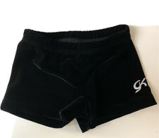 Gk Gymnastics Black Velour Shorts Sz Xs