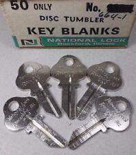 5 NOS National Lock OEM Key Blanks 664-1 Vintage Cabinets Soda Vending Locksmith