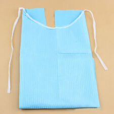 30PC Disposable Adult Tie-Back Poly Bibs Protect Clothes from Spills Functional