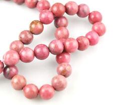16 Inch Strand Rhodonite Round Beads 8MM