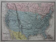 UNITED STATES OF AMERICA, USA, original antique map, Malte-Brun c.1882