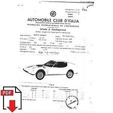 1969 Francis Lombardi 850 Grand Prix FIA homologation form PDF download (ACI)
