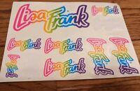 Vintage Lisa Frank Sticker Sheet S200 Rainbow Signature Logo Incomplete Rare