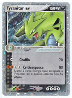 POKEMON • Tyranitar EX 17/17 CARTA ULTRA RARA HOLO • POP PROMO ITALIANO NM