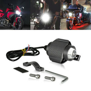 16W Motorcycle Moped LED Headlight Projector Lens Spotlights 12V ATV Universal