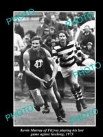 OLD POSTCARD SIZE PHOTO OF FITZROY FC GREAT KEVIN MURRAY IN HIS LAST GAME '73