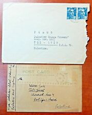 1940 Cover and PostCard to Palestine Posted - n581