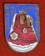 BROCHE religieuse Emaux enamel Notre dame Luxembourg Vierge & enfant N° 2