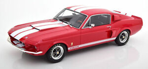 Otto 1967 Shelby GT500 Fastback Red/White Stripe LE999 1/12 Scale New Release!