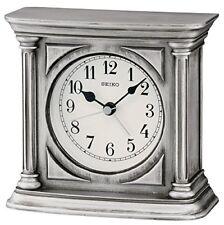 Seiko reloj de sobremesa con alarma acabado antiguo madera plata