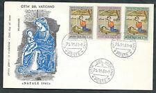 1961 VATICANO FDC FILAGRANO NATALE NO TIMBRO DI ARRIVO - SV12