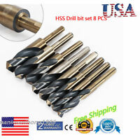 SIZED HSS STEEL AND DEMING TOOL DRILL BIT SET- ( 8PC ) for WOOD DRILLING