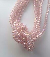 100 Stück Rosa/Metal Facettierte Glasperlen 2mm Kügelchen Kristall|Schmuck DIY
