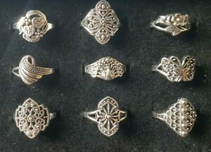 Tibetan Silver Fashion Rings-Approx 18mm-Assorted Patterns-Styles Gift Wrapped
