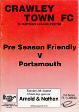 Crawley Town v Portsmouth 1997 / 08 Pre Season Friendly - August 5th