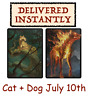 2x MTGA MTG Arena Code FNM Home Cat + Dog Sleeve JUL 10 JULY 10 - INSTANT EMAIL