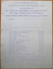 Bicycle 1898 Letterhead: Excelsior Rubber - Tires/Tubes/Pedal Rubbers - Echo, NY
