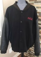 Vintage Coca Cola Mens XL Letterman Jacket Wool Leather Coke Dunbrooke