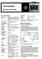 Service Manual-Anleitung für Telefunken Magnetophon M 202 Automataic