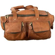 Vintage FRYE Leather Overnight Travel Duffel Bag Whiskey/ Cognac Color Antique