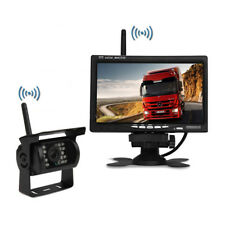 "Wireless IR Weatherproof Backup Camera Car Bus Truck Rear View System 7"" Monitor"