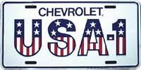 "USA - 1 Chevrolet Cars Trucks American 6""x12"" Aluminum License Plate Tag"