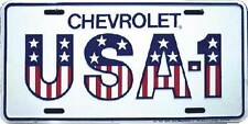 USA - 1 Chevrolet Cars Trucks American Embossed Aluminum License Plate Tag
