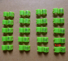 3 mm Green Bird Ring Leg Bands Parrot Finch Canary Grouped 1-20 Numbered