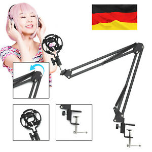 Profi-Tischstativ Mikrofonständer Microfon Halterung verstellbar pour schwarz