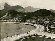 AVENIDA BEIRA-MAR, BOTAFOGO, RIO DE JANEIRO, BRAZIL & ORIGINAL ca 1900's PHOTO